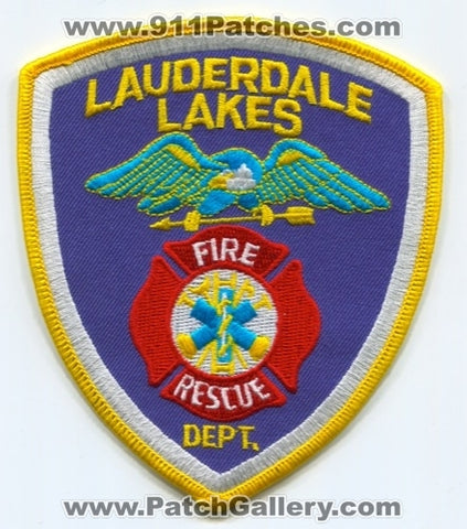 Lauderdale Lakes Fire Rescue Department Patch Florida FL