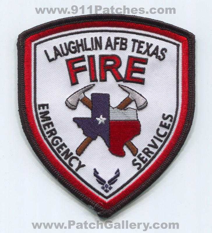 Laughlin Air Force Base AFB Fire Department ES USAF Military Patch Texas TX