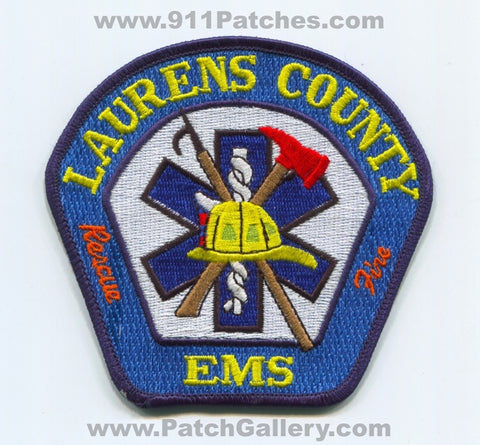 Laurens County Fire Rescue EMS Department Patch South Carolina SC