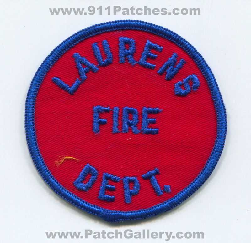 Laurens Fire Department Patch South Carolina SC