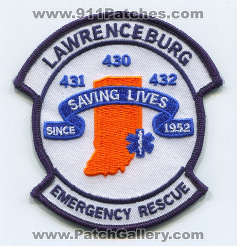 Lawrenceburg Emergency Rescue EMS Patch Indiana IN