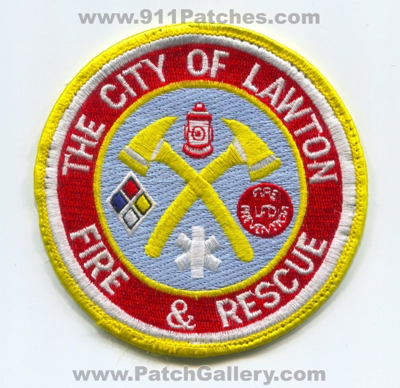 Lawton Fire and Rescue Department Patch Oklahoma OK