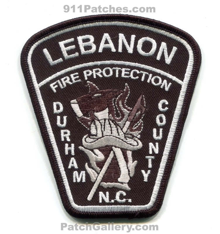 Lebanon Fire Protection District Durham County Patch North Carolina NC Subdued