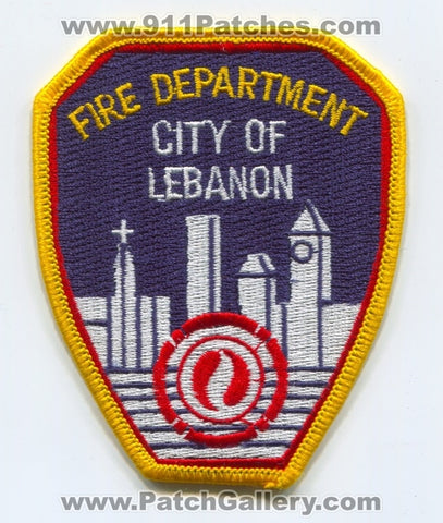 Lebanon Fire Department Patch Indiana IN