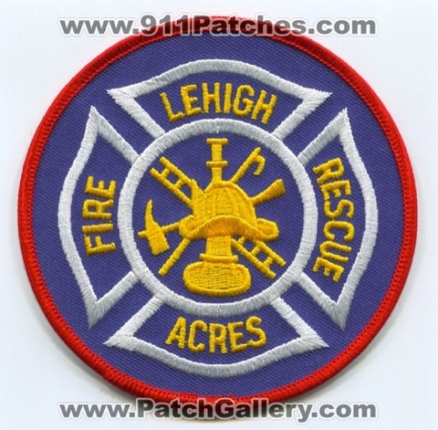 Lehigh Acres Fire Rescue Department Patch Florida FL