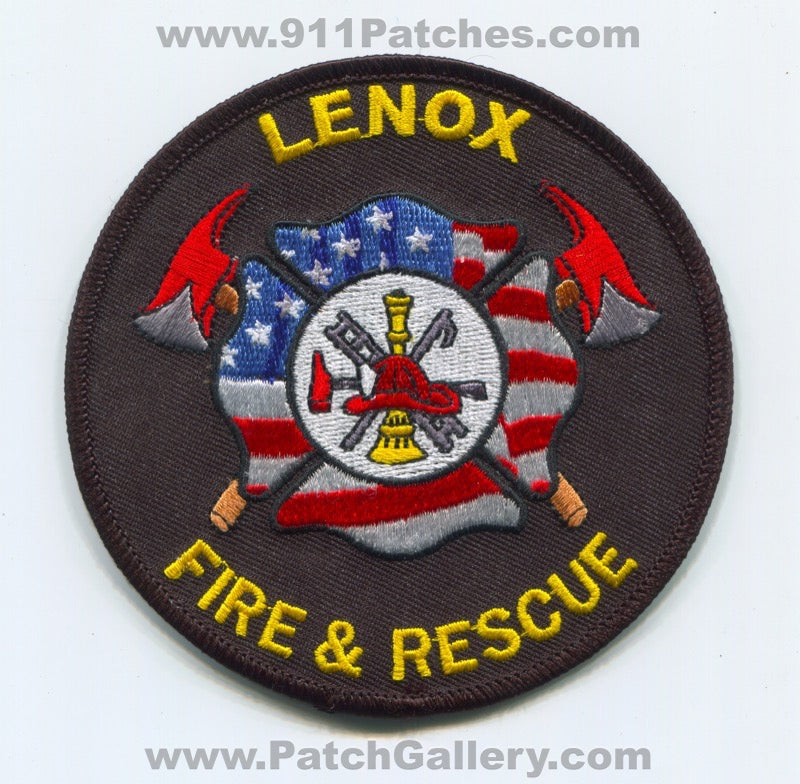 Lenox Fire and Rescue Department Patch Iowa IA