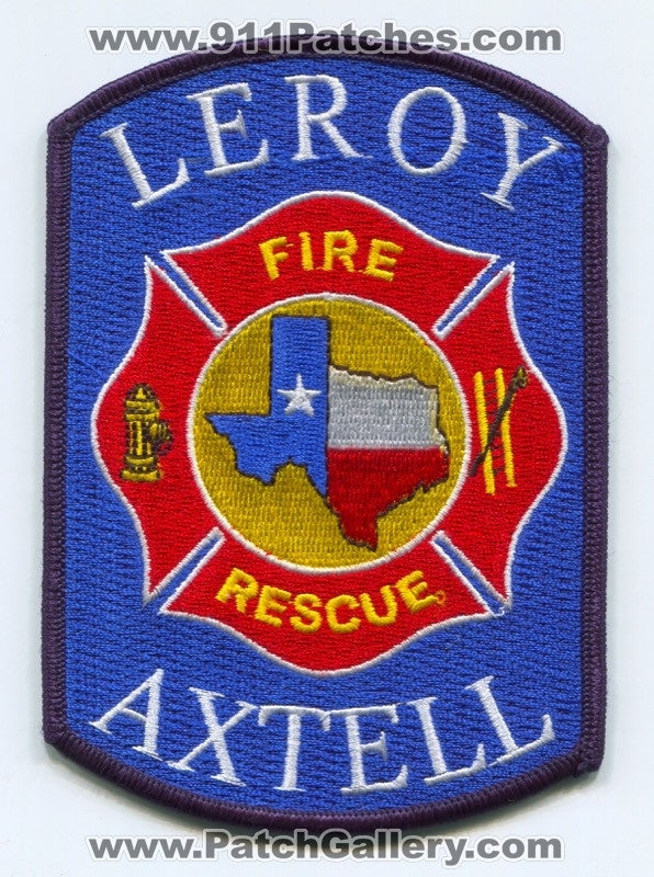 Leroy Axtell Fire Rescue Department Patch Texas TX