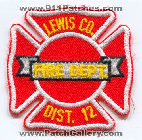 Lewis County Fire District 12 Patch Washington WA