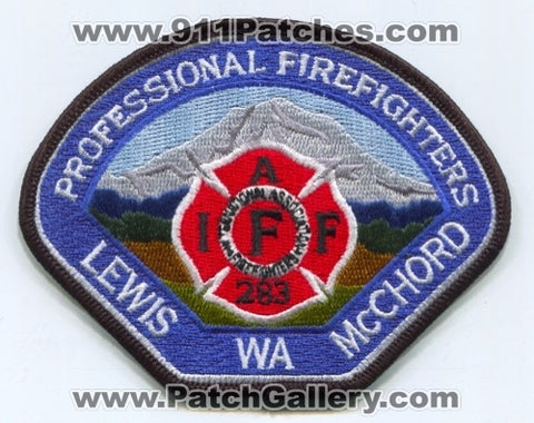 Lewis McChord Air Force Base AFB Fire Department IAFF Local 283 USAF Military Patch Washington WA