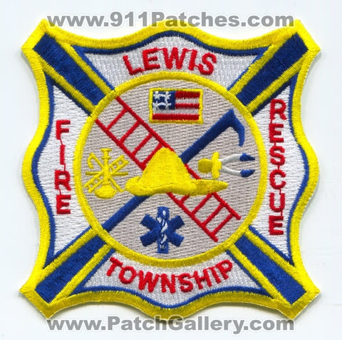 Lewis Township Fire Rescue Department Patch Indiana IN