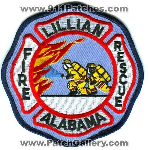 Lillian Fire Rescue Department Patch Alabama AL