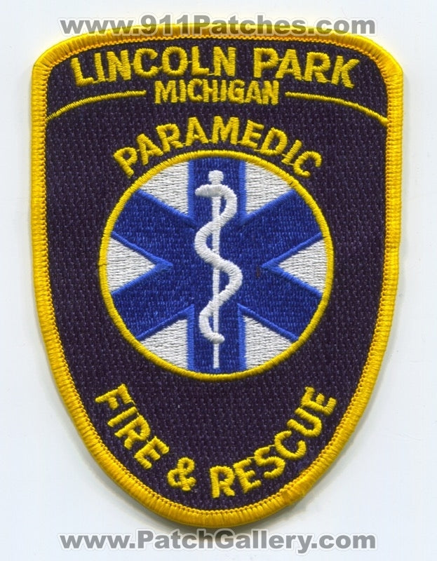 Lincoln Park Fire and Rescue Department Paramedic Patch Michigan MI