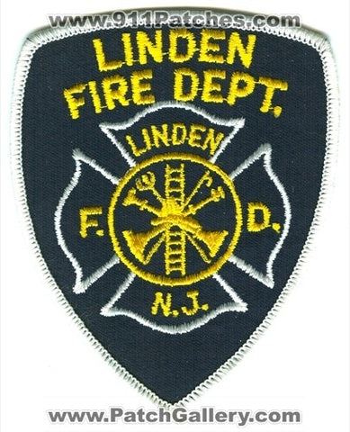 Linden Fire Department Patch New Jersey NJ