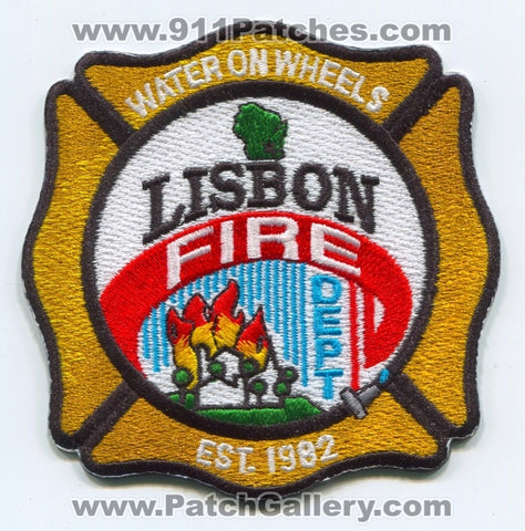 Lisbon Fire Department Patch Wisconsin WI