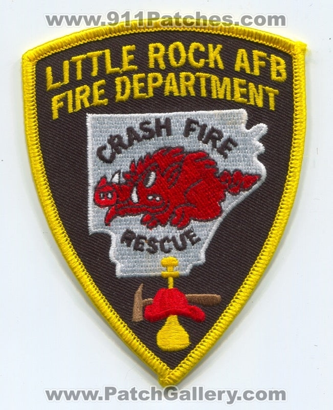 Little Rock Air Force Base AFB Fire Department Crash Rescue CFR USAF Military Patch Arkansas AR