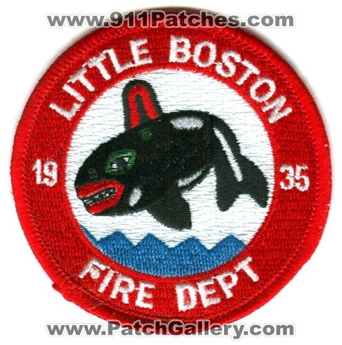 Little Boston Fire Department Patch Washington WA