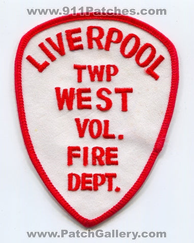 Liverpool Township West Volunteer Fire Department Patch Ohio OH