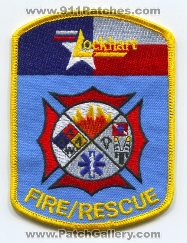 Lockhart Fire Rescue Department Patch Texas TX