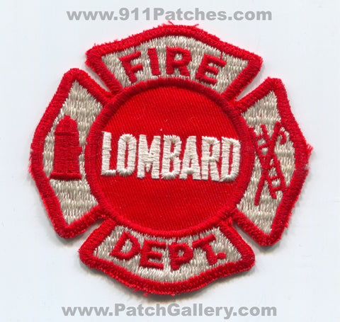 Lombard Fire Department Patch Illinois IL