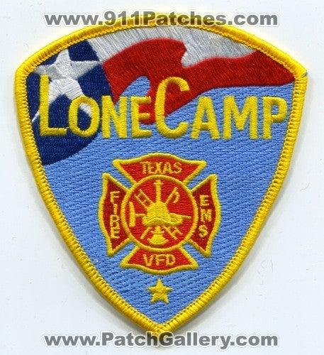 Lone Camp Volunteer Fire Department Patch Texas TX