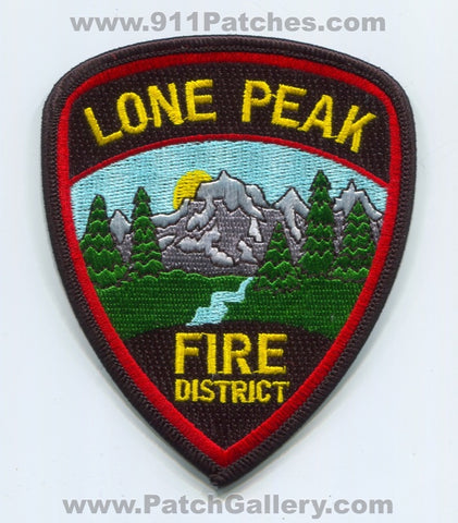 Lone Peak Fire District Patch Utah UT
