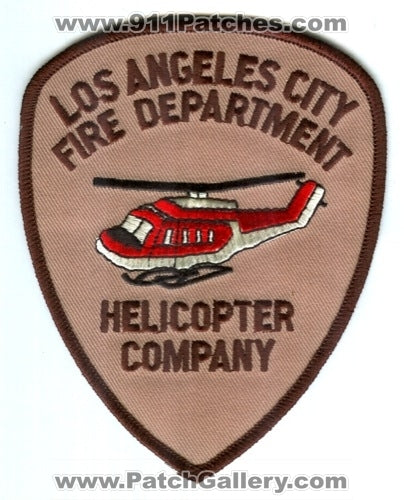 Los Angeles City Fire Department LAFD Helicopter Company Patch California CA