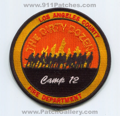 Los Angeles County Fire Department Camp 12 Patch California CA