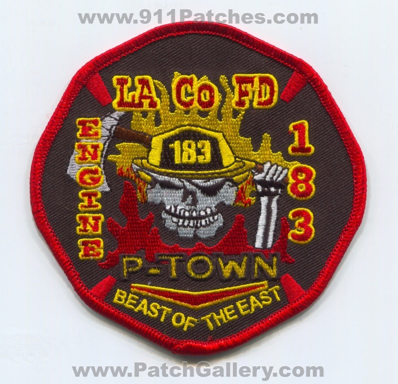 Los Angeles County Fire Department Engine 183 Patch California CA