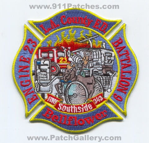 Los Angeles County Fire Department LACoFD Engine 23 Battalion 9 Patch California CA