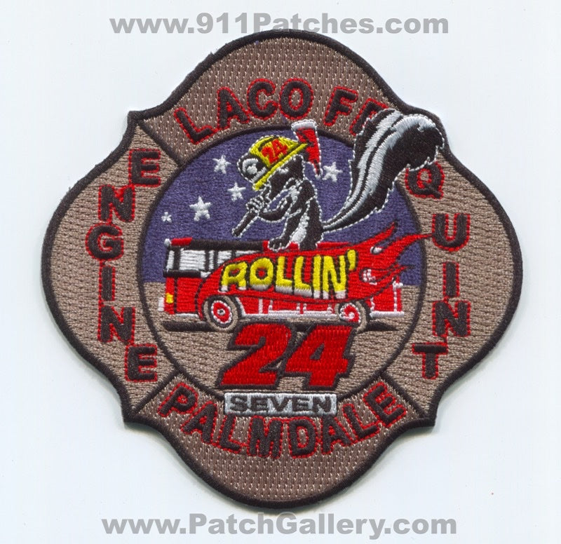 Los Angeles County Fire Department Station 24 Patch California CA Palmdale