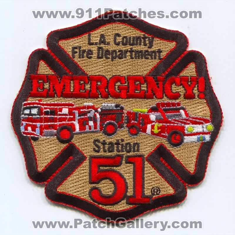 Los Angeles County Fire Department Station 51 Patch California CA