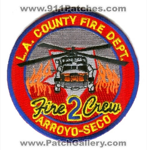 Los Angeles County Fire Department Fire Crew 2 Patch California CA