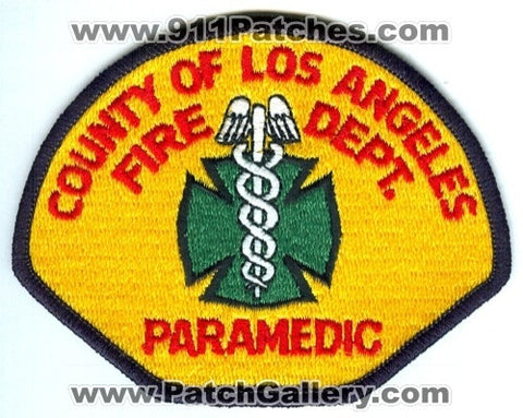 Los Angeles County Fire Department Paramedic Patch California CA