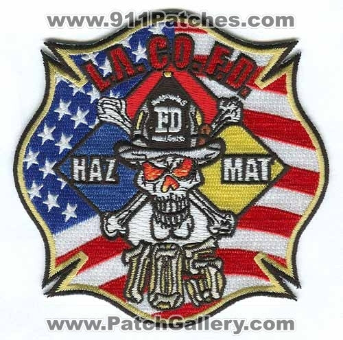 Los Angeles County Fire Department Haz Mat 105 Patch California CA