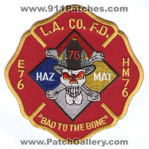 Los Angeles County Fire Department Station 76 Patch California CA