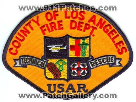Los Angeles County Fire Department USAR Technical Rescue Patch California CA