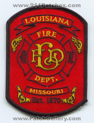 Louisiana Fire Department Patch Missouri MO
