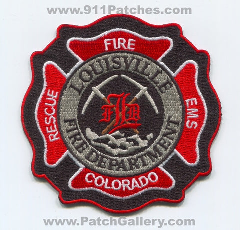 Louisville Fire Department Patch Colorado CO