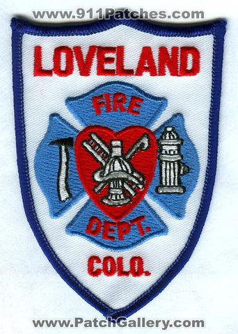 Loveland Fire Department Patch Colorado CO