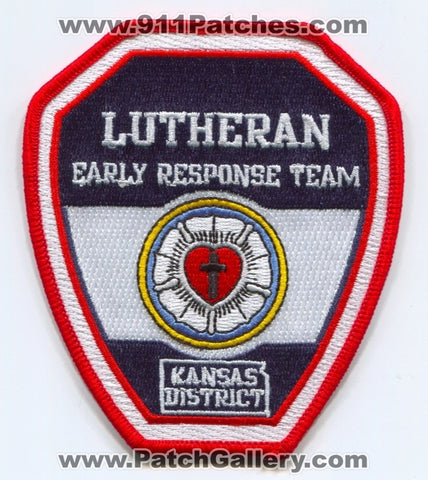 Lutheran Early Response Team LERT Kansas District EMS Patch Kansas KS
