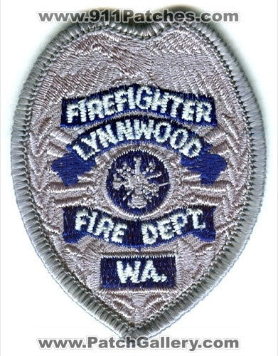 Lynnwood Fire Department Firefighter Patch Washington WA