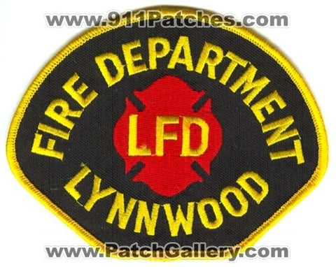 Lynnwood Fire Department Patch Washington WA