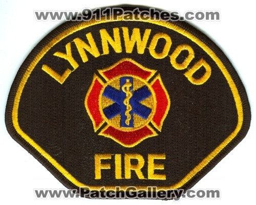 Lynnwood Fire Department Dept FD Rescue EMS Patch Washington WA Black