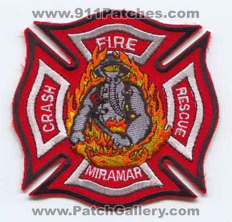 Marine Corps Air Station MCAS Miramar Crash Fire Rescue CFR Department USMC Military Patch California CA