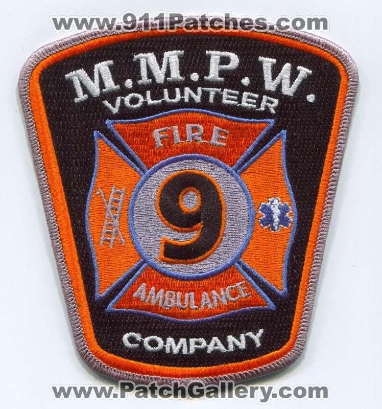 MMP&W Volunteer Fire Company 9 Patch Pennsylvania PA