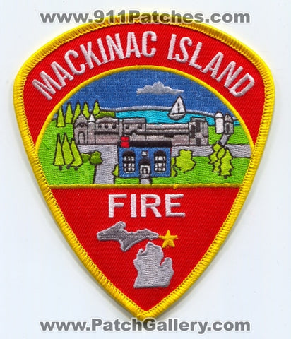 Mackinac Island Fire Department Patch Michigan MI