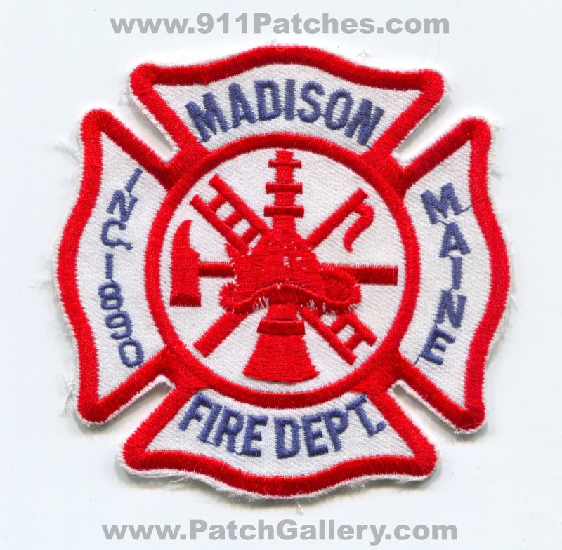 Madison Fire Department Patch Maine ME