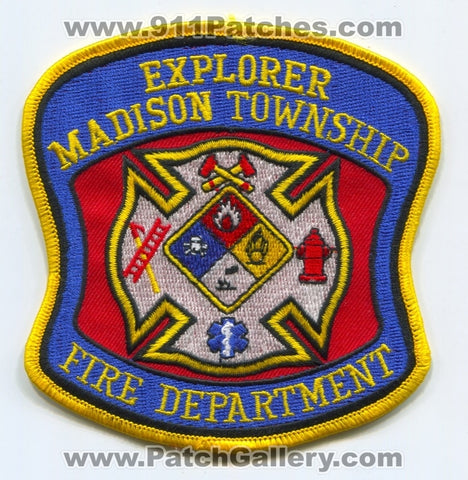 Madison Township Fire Department Explorer Patch Unknown State