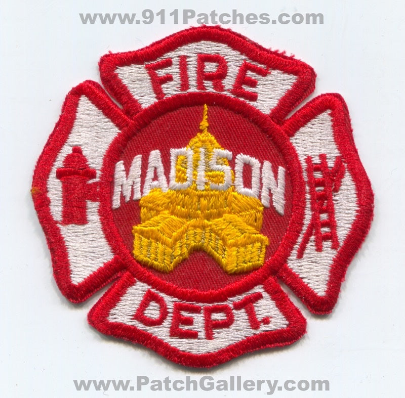 Madison Fire Department Patch Wisconsin WI