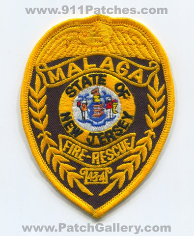 Malaga Fire Rescue Department 43-4 Patch New Jersey NJ